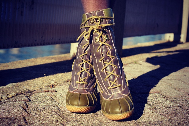 michael kors high heeled duck boots walk in my shoes