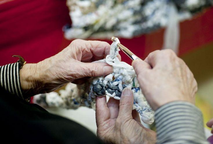 Crocheting For The Homeless : ... for homeless by crocheting plastic bag strips #charity #crochet #plarn