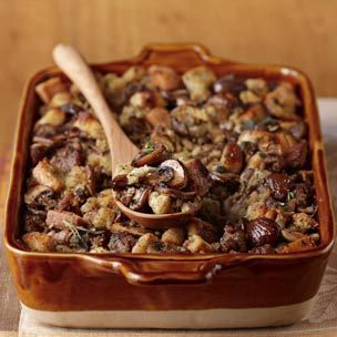 Sausage, Chestnut and Mushroom Dressing | Recipes | Pinterest