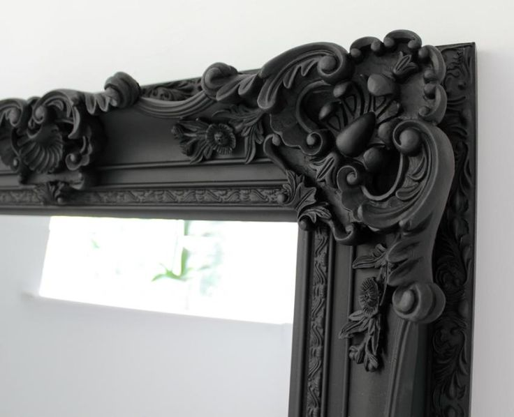 large black ornate mirror emmi pinterest
