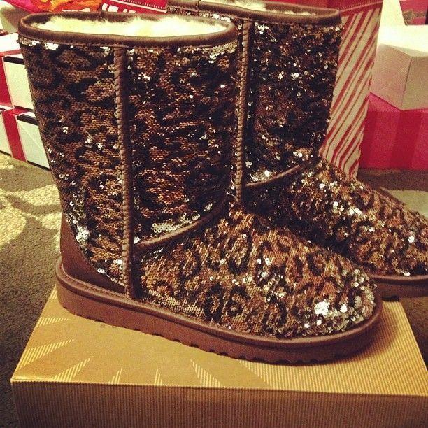 2016 leopard sparkle ugg boots