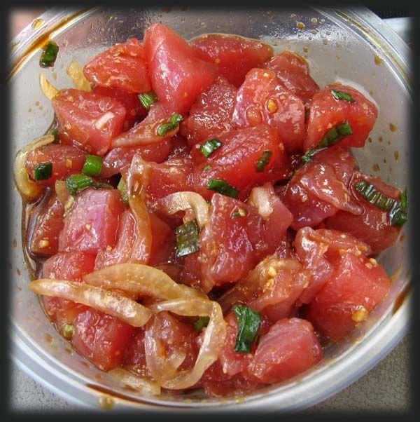 Shoyu Poke JJ Seafood, Kaneohe | HAWAIIAN FOOD | Pinterest