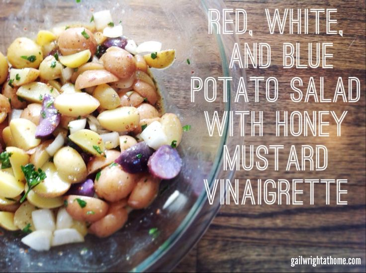 Red, White, and Blue Potato Salad | OmNom Salads | Pinterest