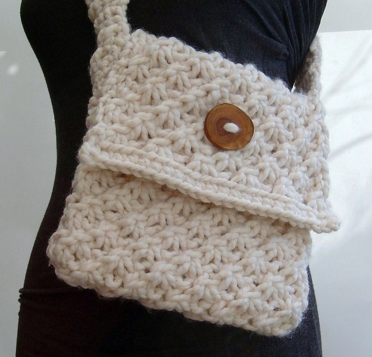 Crochet Purse Patterns Easy : ... and Crochet Pattern for Daisy Stitch purse easy knit Pattern PDF