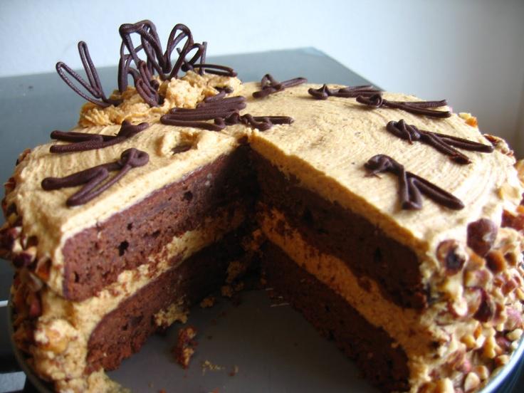 Chocolate Hazelnut Torte with Hazelnut Praline Buttercream