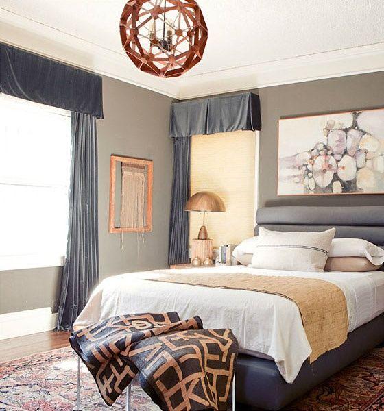 elegant bedroom in grey and gold bedrooms pinterest