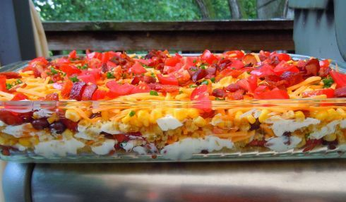 Chili Corn Bread Salad   Recipes   Pinterest