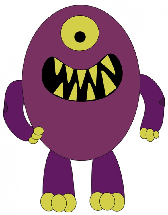 scary monster coloring page | Monster B-Day Ideas | Pinterest