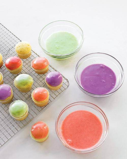 Vanilla Cupcakes With Fruit Glaze Recipe — Dishmaps