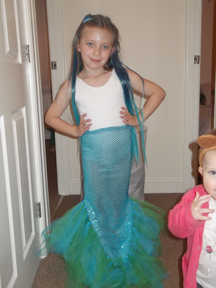 mermaid DIY kids fancy dress party ideas Pinterest