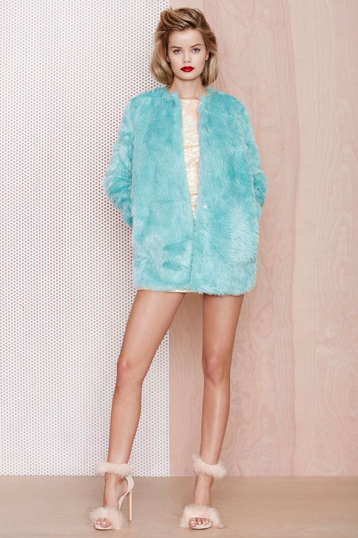 Candy Flip Faux Fur Coat at Nasty Gal