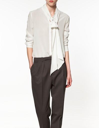 Zara Pintuck Blouse 9