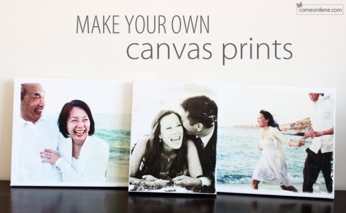 make your own canvas prints crafts pinterest