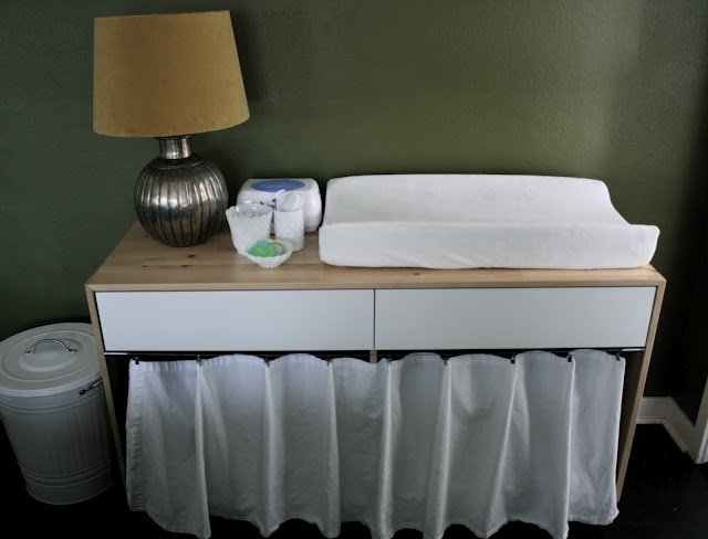 Ikea dresser into changing table  greenardelle  Pinterest