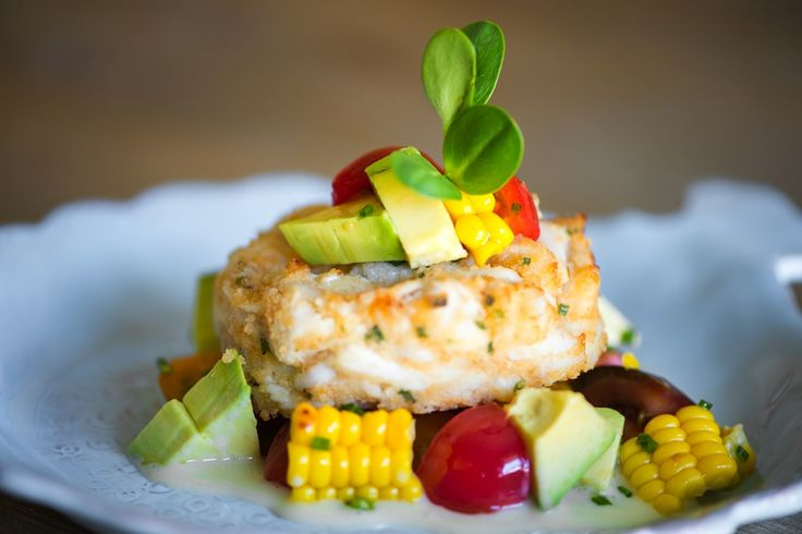 "Gluten Free Baked ""Made in Maryland"" Crab Cake; Corn, Tomato ..."