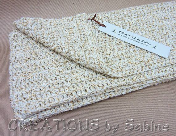 Crochet Lap Blanket : Handmade Crochet Afghan Throw Lap Blanket, 37x37 Square, Goldish Tan ...