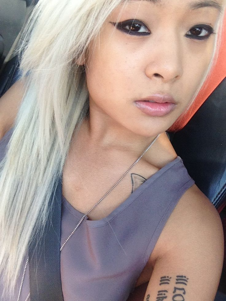 blonde #blonde asian #hair blonde Pinterest