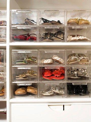 Shoe organization ideas organization cleaning pinterest - Ideas for organizing shoes ...