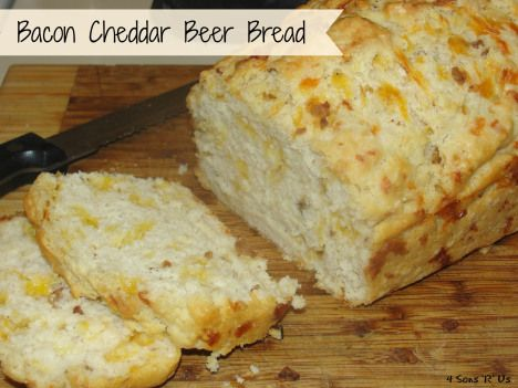 Bacon Cheddar Beer Bread | Breads | Pinterest