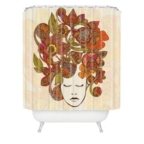 DENY Designs Valentina Ramos Its All In Your Head Shower Curtain, 69 ...
