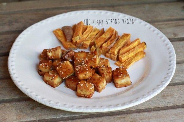 Let's Eat! | Sweet Spicy Tofu w/ Sweet Potato Fries