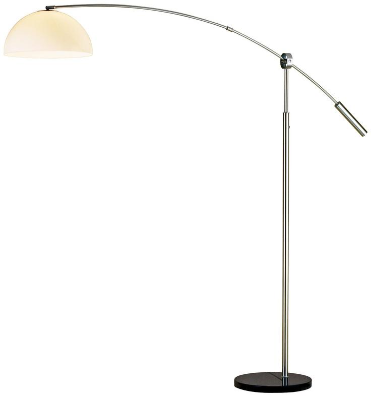 bogie satin steel arc floor lamp. Black Bedroom Furniture Sets. Home Design Ideas