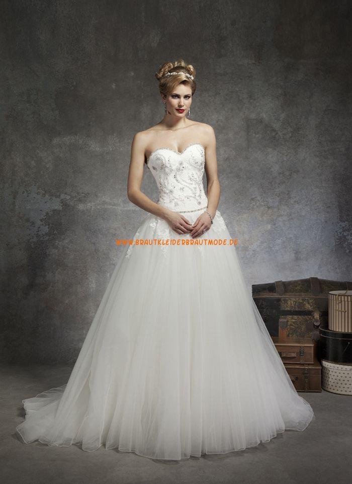 Wunderschöne Bodenlange Hochzeitskleider aus Softnetz