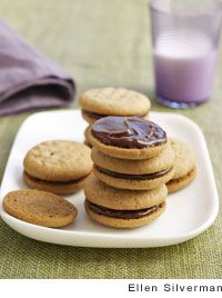 Peanut Butter Sandwich Cookies with Milk Chocolate Filling Recipe, # ...