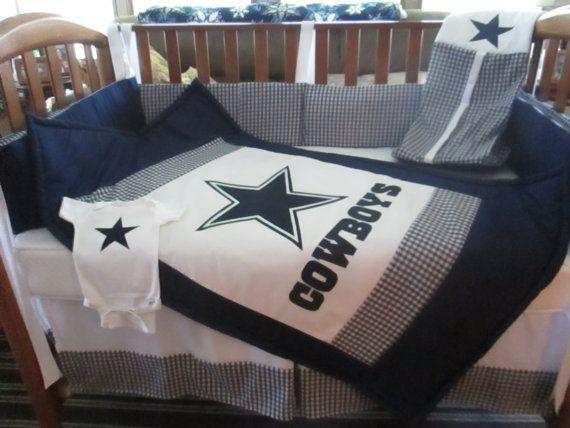Dallas Cowboys 6 Piece Crib Bedding Set