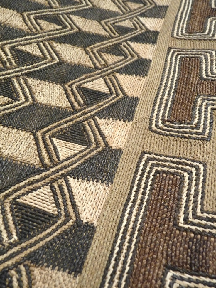 Africa | Kuba Raffia Cloth Detail - Bushoong - Mid 20th century – DR Congo