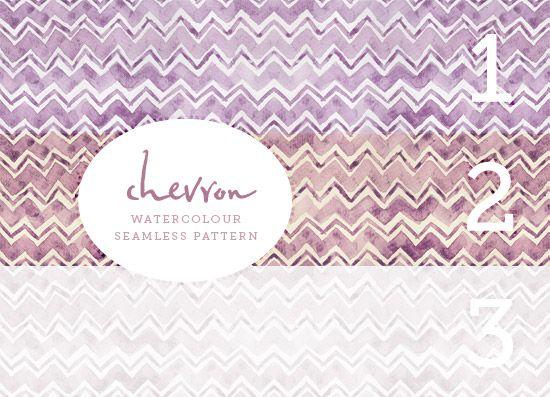 Chevron Watercolour Pattern from August Empress