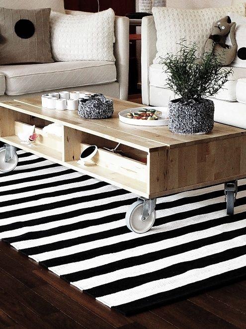 teppich schwarz wei. Black Bedroom Furniture Sets. Home Design Ideas