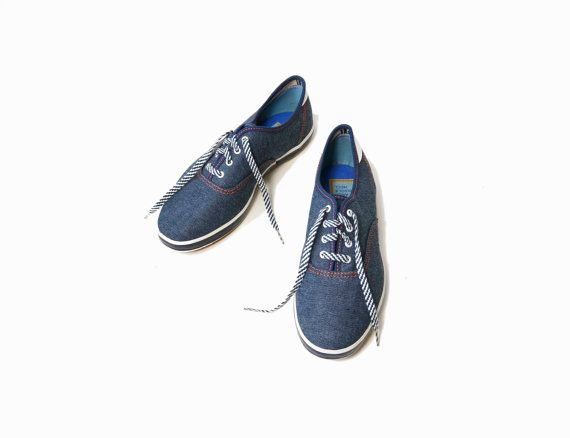 Vintage Super Jeepers Canvas Tennis Shoes at Twig & Spoke Vintage