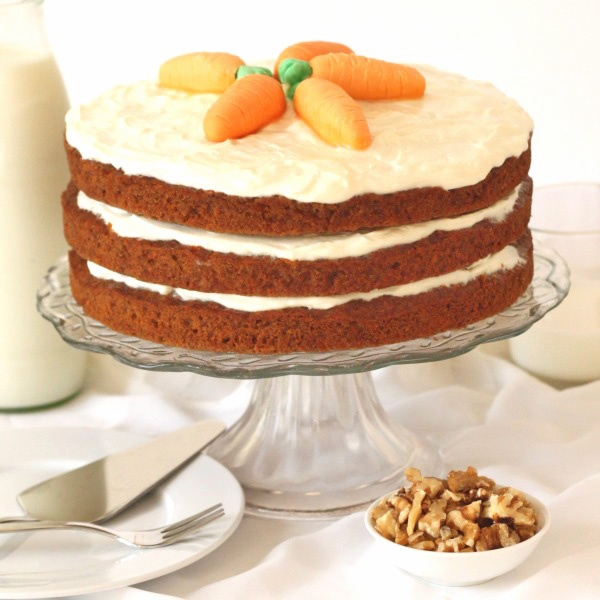 100% Whole Grain Carrot Cake | Recipe