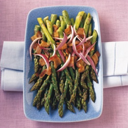 BBQ GRILLING #BBQ #Grilling Asparagus with Sherry-Bacon Vinaigrette