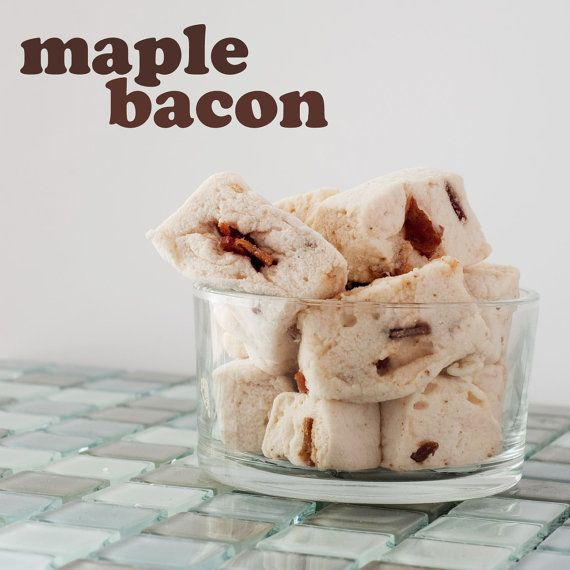 Gourmet Maple Bacon Marshmallows, the ultimate breakfast on the go.