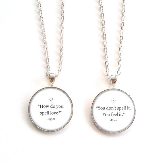 winnie the pooh quote pendant best friend by modishlaundry