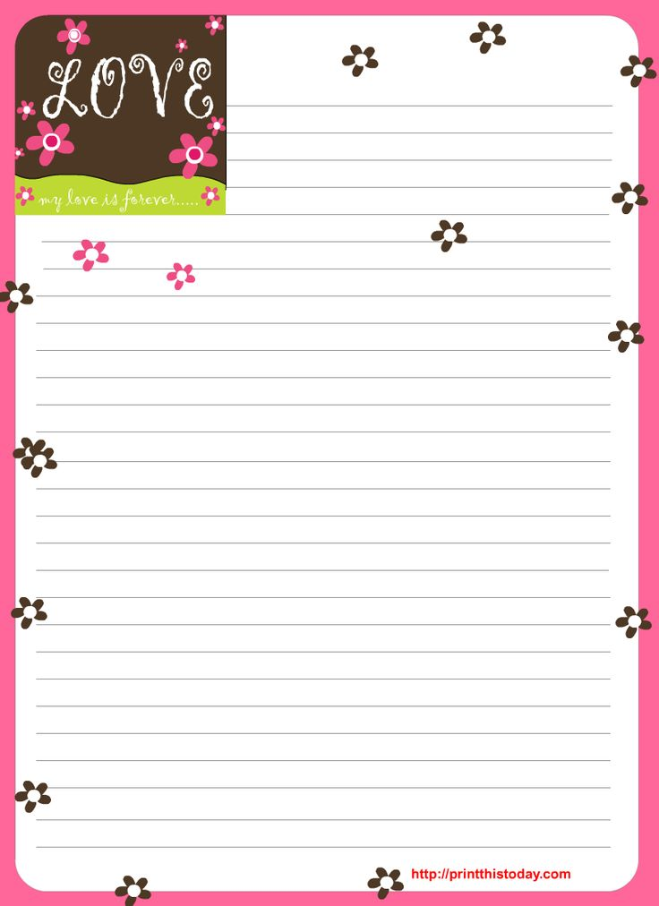 Printable cat stationery and writing paper. free pdf