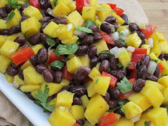Black Bean and Mango Salsa - Prefect over grilled fish or chicken!
