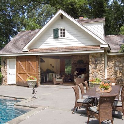 Pin by dina le on detached garage pinterest for Pool house garage