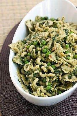 Pesto Pasta Salad With Peas! | yummy. | Pinterest
