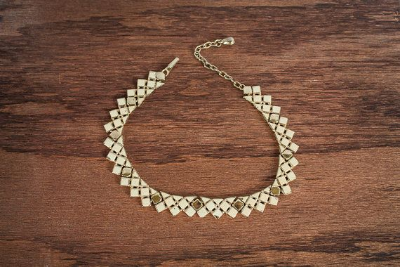Vintage Gold and Creme Choker