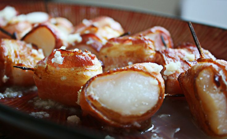 Bacon-Wrapped Scallops With Chili Butter Recipe — Dishmaps