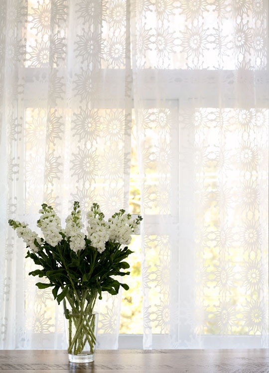 Textured Sheer Curtain Panels Overlapping Sheer Curtain