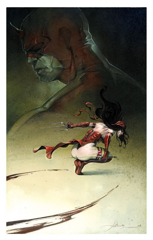 Elektra and daredevil by anthony jean