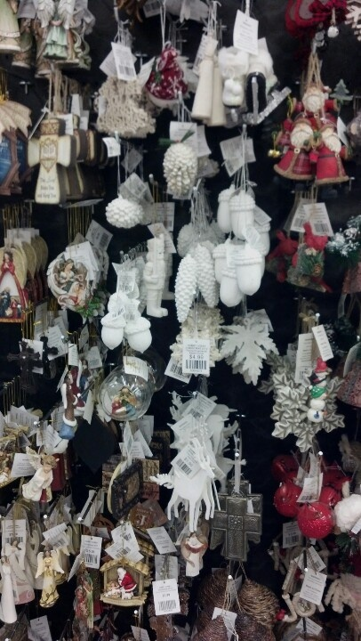 White Christmas ornaments at hobby lobby   Christmas   Pinterest