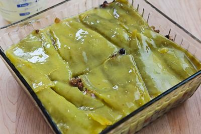 Spicy Green Chile Mexican Casserole Recipe with Ground Beef, Black Be ...
