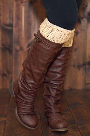 DIY Crochet Boot Cuff Patterns {7 Free Designs