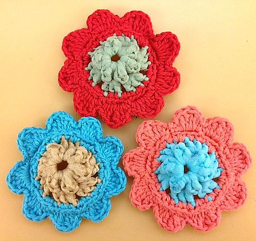 Crochet Patterns Galore - Scour Flower Crochet! Pinterest