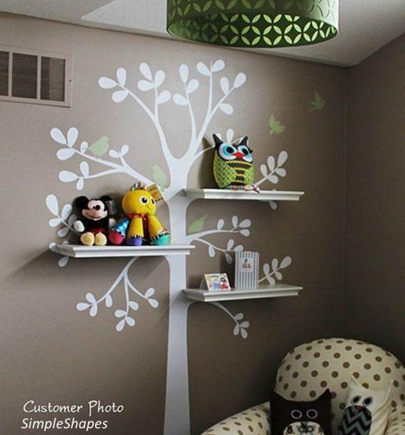 déco-chambre-enfant-Etagère-arbre  ♡ ♡ ♡ Déco enfants et ...